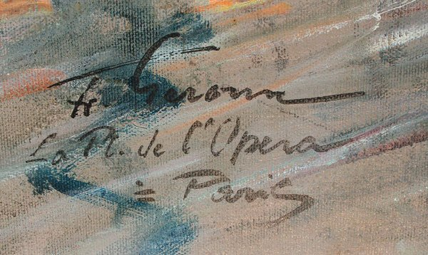 SIGNED FRANCOIS GEROME OIL PAINTING - 3