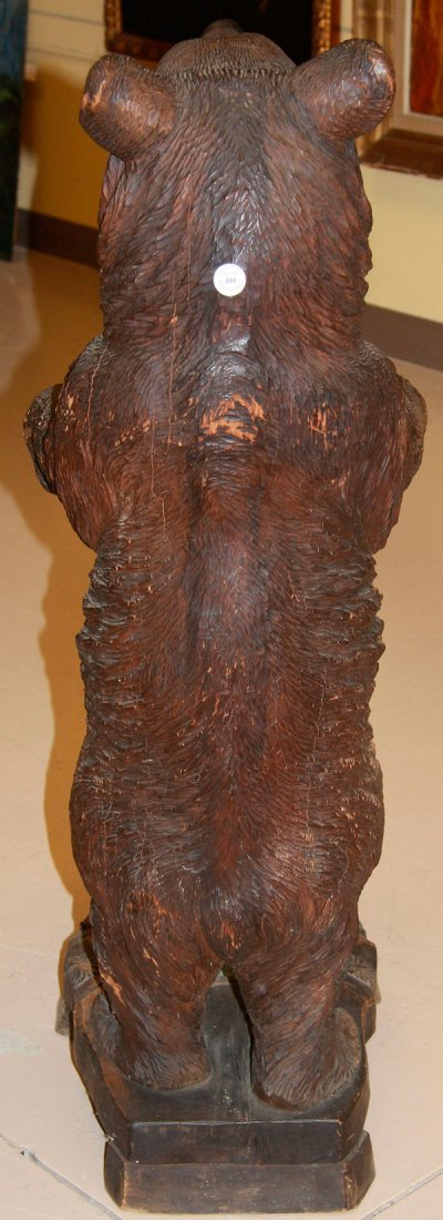 A BLACK FOREST SWISS CARVED BEAR UMBRELLA STAND - 5