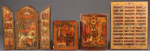 A GROUP OF FOUR RUSSIAN ICONS PROBABLY LAST QUAR