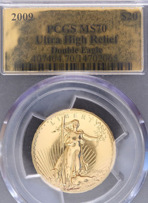 A 2009 AMERICAN GOLD ULTRA HIGH RELIEF DOUBLE EAG