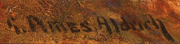 AN ORIGINAL GEORGE JAMES ALDRICH OIL PAINTING - 3