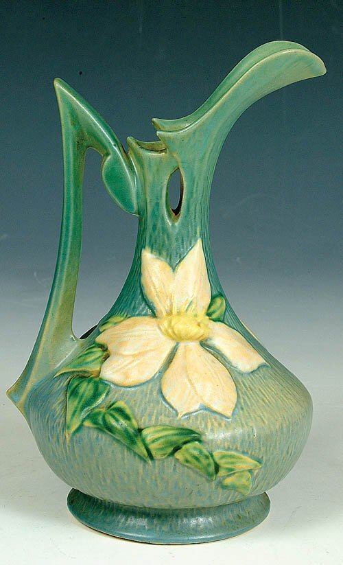 """20: A ROSEVILLE """"CLEMATIS"""" EWER in shape #1"""