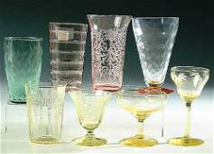 690: A 49-PIECE GROUP OF STEMS AND TUMBLERS