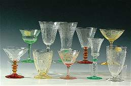 712: A LARGE 31-PIECE ASSORTMENT OF CRYSTAL