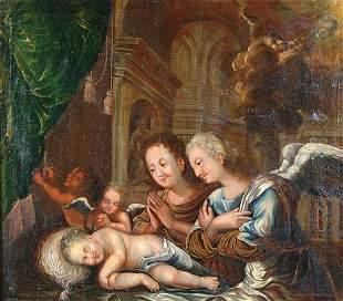 "ITALIAN SCHOOL (circa 1700). ""Adoration"