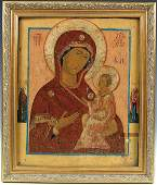 827: A RUSSIAN ICON: The Tikhvin Mother of G