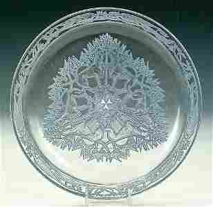 """1277: A FINE R. LALIQUE """"CHASSE CHIENS"""" TRAY"""