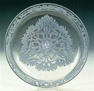 """A FINE R. LALIQUE """"CHASSE CHIENS"""" TRAY"""