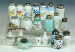 1383: A COLLECTION OF 21 VICTORIAN SHAKERS in