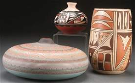 THREE PIECE GROUP OF SOUTHWESTERN POTTERY