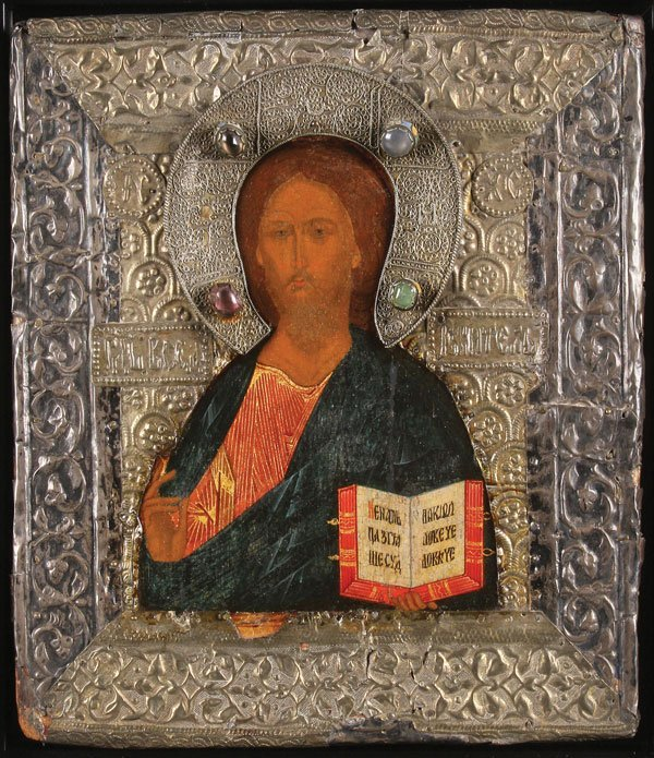AN ATTRACTIVE RUSSIAN ICON OF CHRIST