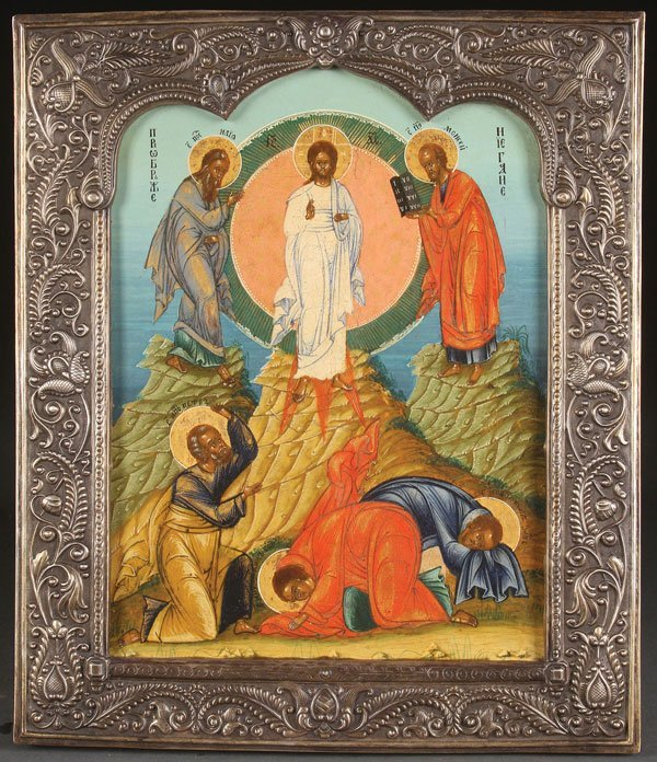 A RUSSIAN ICON OF THE TRANSFIGURATION
