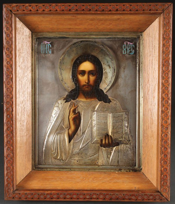 A RUSSIAN ICON OF CHRIST, MOSCOW, 1908-1917