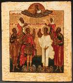 FINE OLD BELIEVERS RUSSIAN ICON YAROSLAVL C 1800