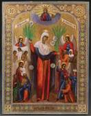 A RUSSIAN ICON OF THE MOTHER OF GOD JOY TO ALL