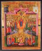 EXCEPTIONAL LARGE RUSSIAN ICON CIRCA 1800 53 x 44 cm