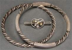 A GEORG JENSEN STERLING SILVER GROUP