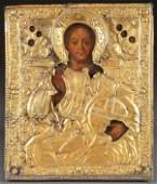 A RUSSIAN ICON OF CHRIST 18TH CENTURY