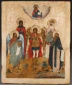 A LARGE RUSSIAN ICON OF THE ARCHANGEL MICHAEL