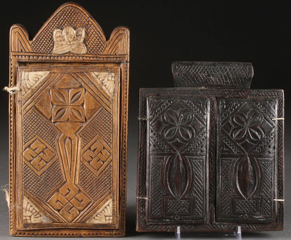 A GROUP OF ETHIOPIAN ICONS AND A COPTIC SCROLL - 3