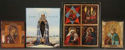 A GROUP OF FOUR RUSSIAN ICONS CIRCA 18001900