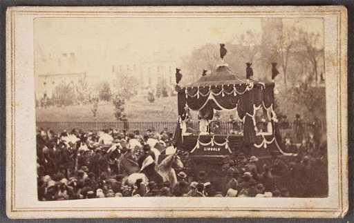 Rare Lincoln Funeral Carriage Cdv And 65 Other