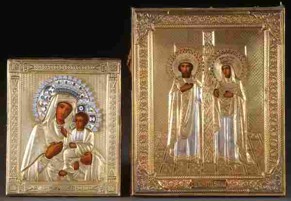 A PAIR OF FINE RUSSIAN ICONS, CIRCA 1915