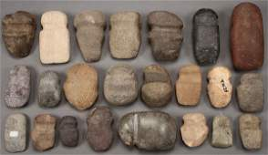 A GROUP OF STONE TOOLS 33 PIECES