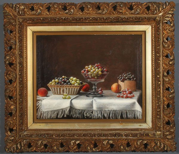 BARTON STONE HAYS, OIL PAINTING STILL LIFE - 2