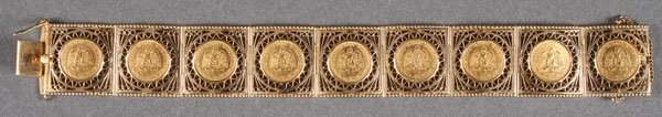 LADKES 18K GOLD COIN BRACELET
