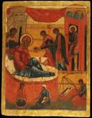 A LARGE OLD RUSSIAN ICON CIRCA 1500