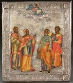 A FINE RUSSIAN ICON ST. PETERSBURG, DATED 1877