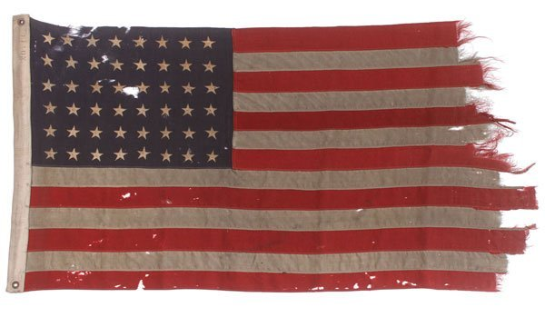 HISTORIC WWII D-DAY FLOWN FLAG, UTAH BEACH