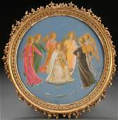 FINELY PAINTED  ANGELS AFTER FRA ANGELICO CIRCA 1890