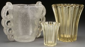 453 kugelvase d 39 avesn glass vase art deco nouveau lot 453. Black Bedroom Furniture Sets. Home Design Ideas