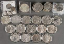 A COLLECTION OF MOSTLY US SILVER DOLLARS