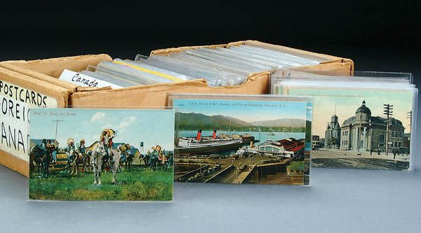 633: APPROX. 700 CANADA POSTCARDS including many nice