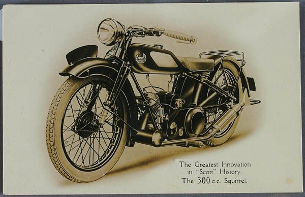 711: A MOTORCYCLE REAL PHOTO POSTCARD Scott Squirrel a