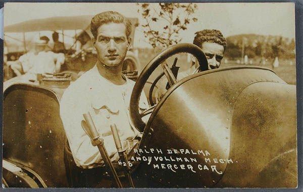 714: A DEPALMA MERCER RACER CAR REAL PHOTO POSTCARD ne
