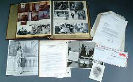 1106 POLITICAL SCRAPBOOK PHOTO ALBUM circa 1950s60s