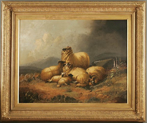"21: ALFRED MORRIS (British 19th century) ""Sheep in a"