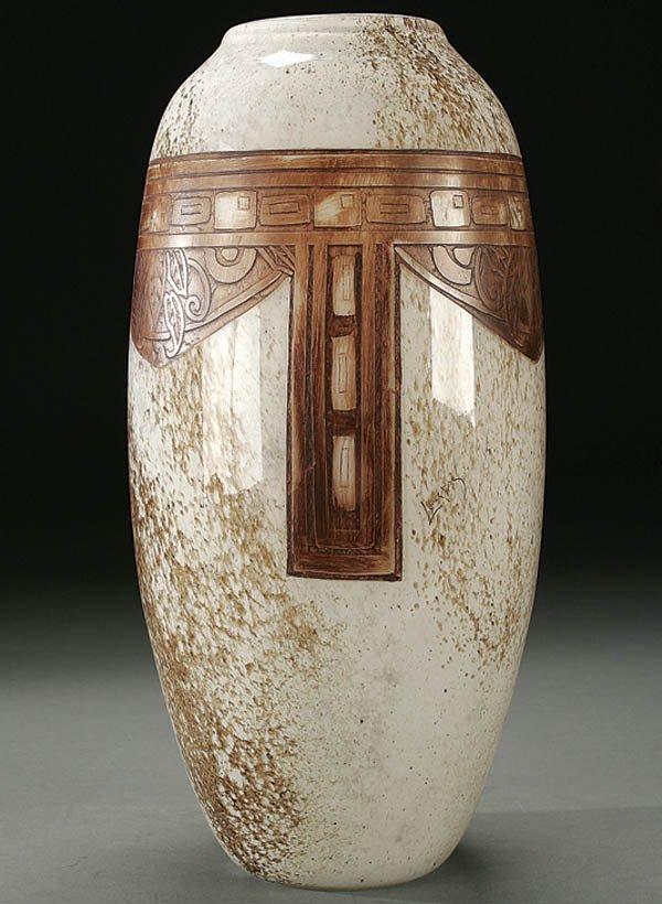 509: A LEGRAS FRENCH CAMEO GLASS VASE circa 1925 in mo