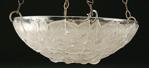 """514: AN R. LALIQUE """"CHARMES"""" PLAFONNIER, MOLDED AND FR"""