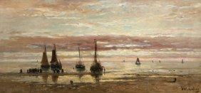Spectacular Dutch Painting H.w. Mesdag C 1900