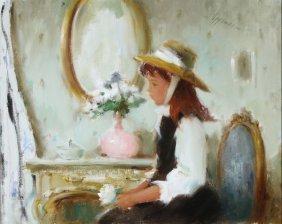 Lovely Orignial S.e. Oppenheim Painting