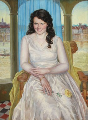 Large Portrait Painting, Signed & Dated 1931