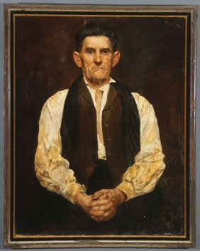 Oil Portrait Signed & Dated 1892