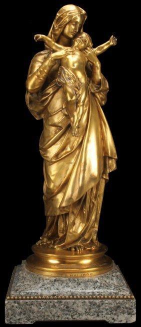 Gustav Dore Gilt Bronze Madonna
