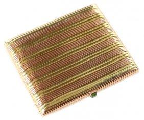 Faberge 2 Color Gold Ciagrette Case