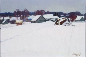 Russian Painting By Timkov, 1958
